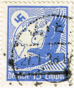 Image Is Loading Germany WW2 Airmail Third Reich Eagle Stamp 1934