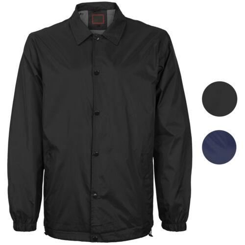 Men/'s Lightweight Water Resistant Button Up Nylon Windbreaker Coach Jacket
