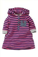 Next Baby Girls Pink/Navy Stripe Hooded dress Ages 1st Size 1mth 3mths 3-6mths