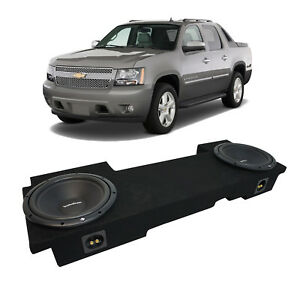 "02-13 Chevy Avalanche Underseat Rockford Prime R1S410 Dual 10"" Sub Box New 2 Ohm"