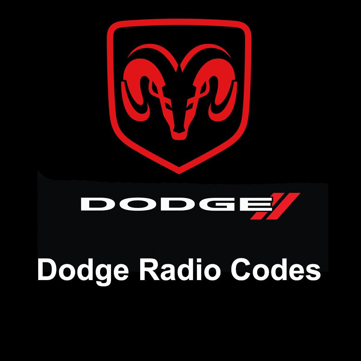 Details about Dodge Radio Code Anti Theft Stereo Unlock Codes Fast Service  Ram/Sprinter