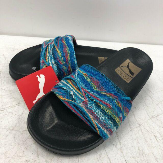 a285b501dc PUMA X Coogi Leadcat Multi Blue Atoll Slides Sandals Men's 5 Womens ...