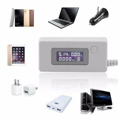Detecteur Testeur Voltage Courant USB  et Capacité Des Batteries Ecran LCD