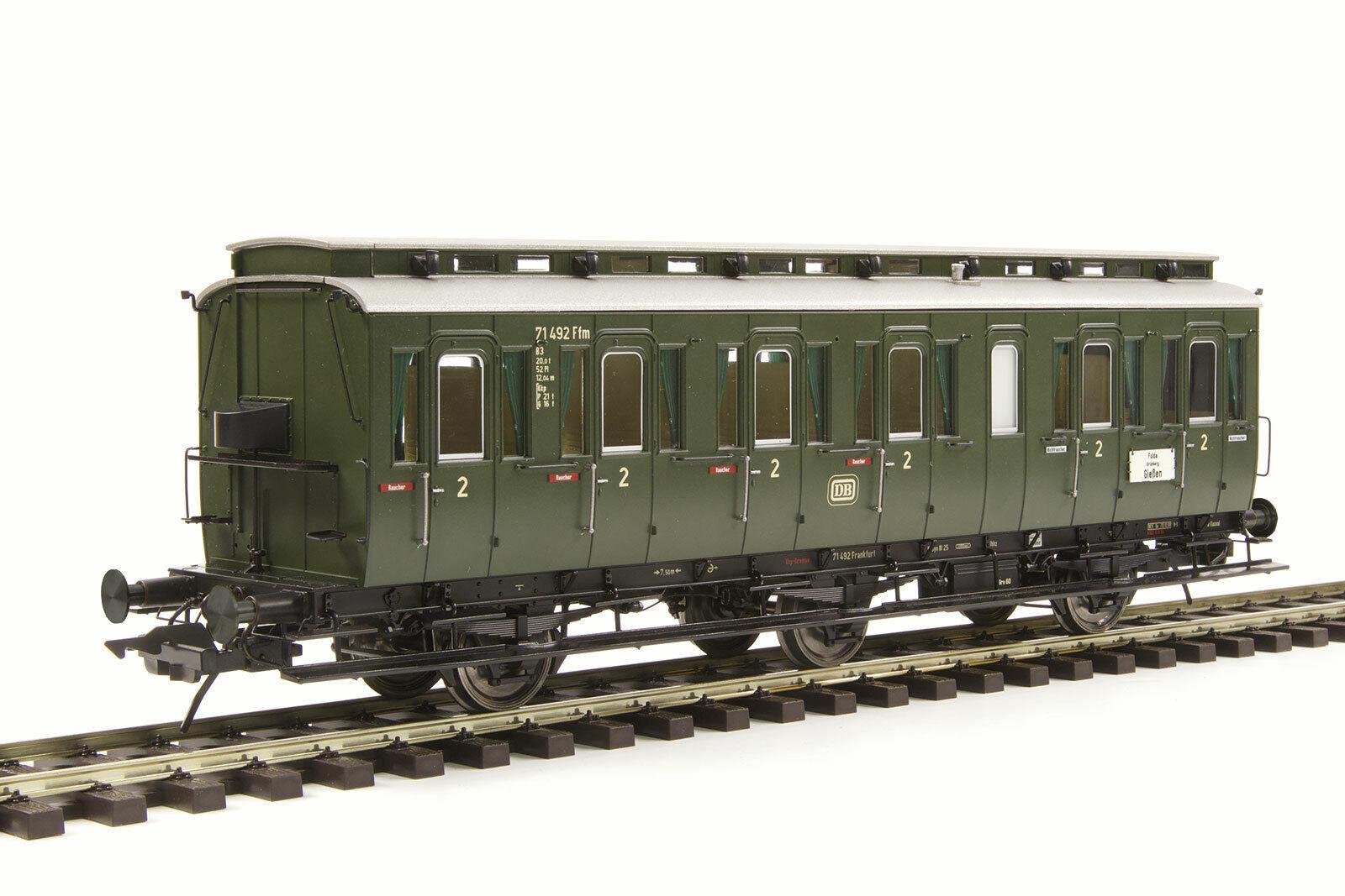 Lenz 41163-02 Escala 0 Prusiano Coche de Compartimentos Modelo C3 o Bremserh DB