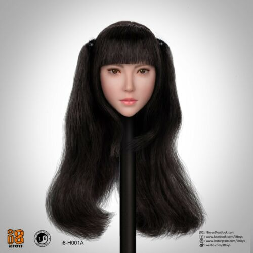 1//6 Scale i8TOYS I8-H001Delicate Female Head Carving Fit 12/'/' Action Figure