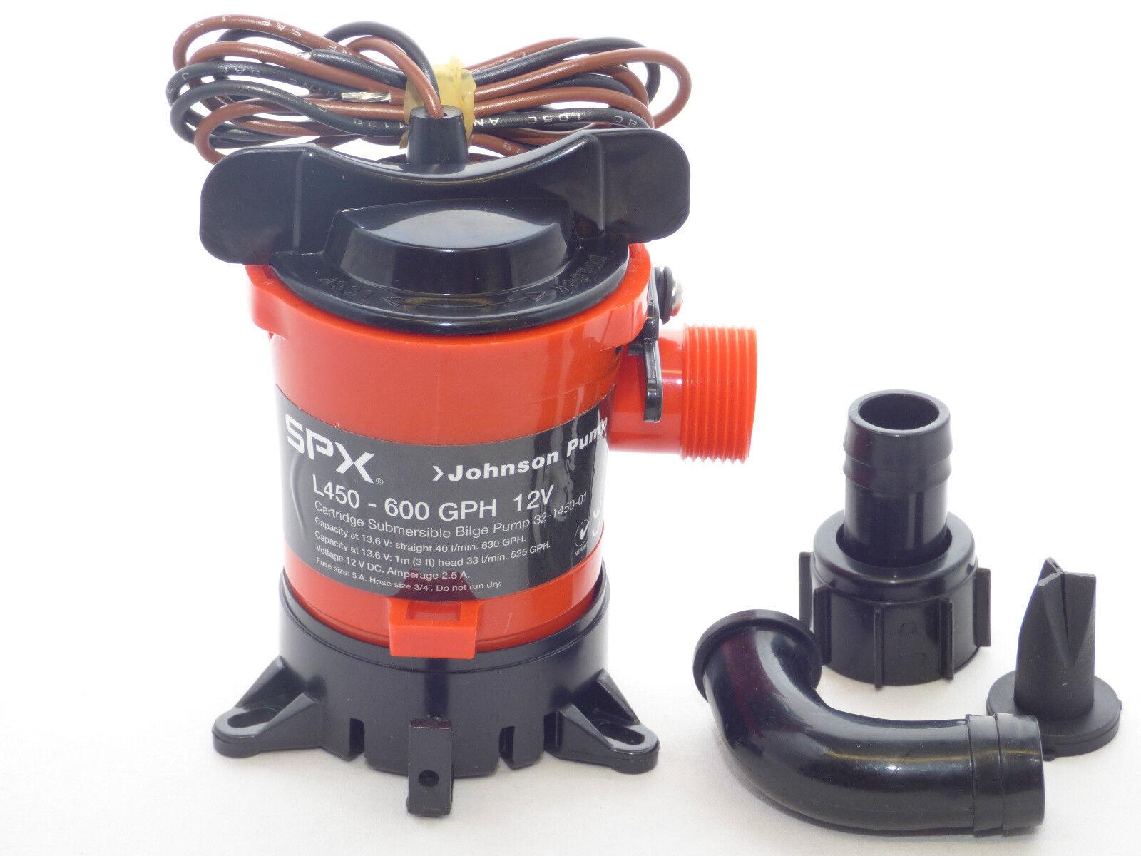 Bilgenpumpe JOHNSON PUMP L450 - Wasserpumpe L 750  Lenzpumpe Wasserpumpe - Tauchpumpe a6102f