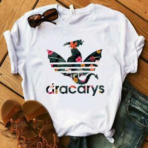 New-Women-039-s-Dracarys-Dragon-Shirt-Mother-of-Dragons-Flower-Short-Sleeve-T-Shirt