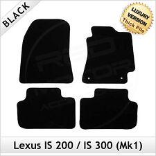 Lexus IS 200 300 Mk1 1999-2005 Tailored LUXURY 1300g Carpet Car Floor Mats BLACK