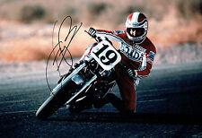 Fast Freddie SPENCER SIGNED 12x8 Photo HONDA Rider AFTAL Autograph COA