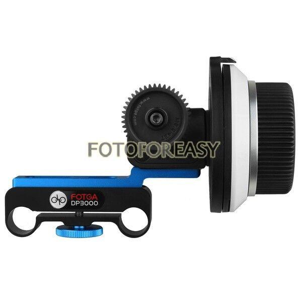 FOTGA DP3000 M1 DSLR Follow Focus for 15mm Rod Rig 5D II III 6D A7 70D 80D D7500