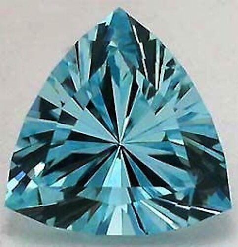 AAA Rated Trillion Aquamarine Blue Green Cubic Zirconia (3x3mm-12x12mm)