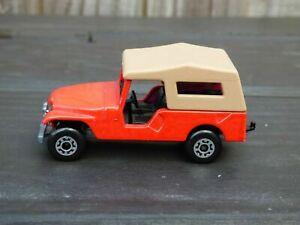 Matchbox-Superfast-Vintage-1977-no-53-Jeep-CJ-6-Rojo-Willys-Juguete-Diecast-Car-Imp