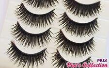 5 Pairs M03 Long False Eyelashes Black Thick Machine Made Party Fake Eye Lashes