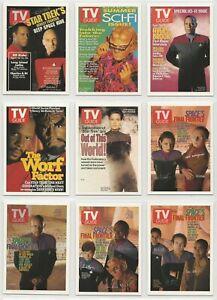 Quotable Star Trek DS9 TV Guide Chase Card Set TV1-TV9