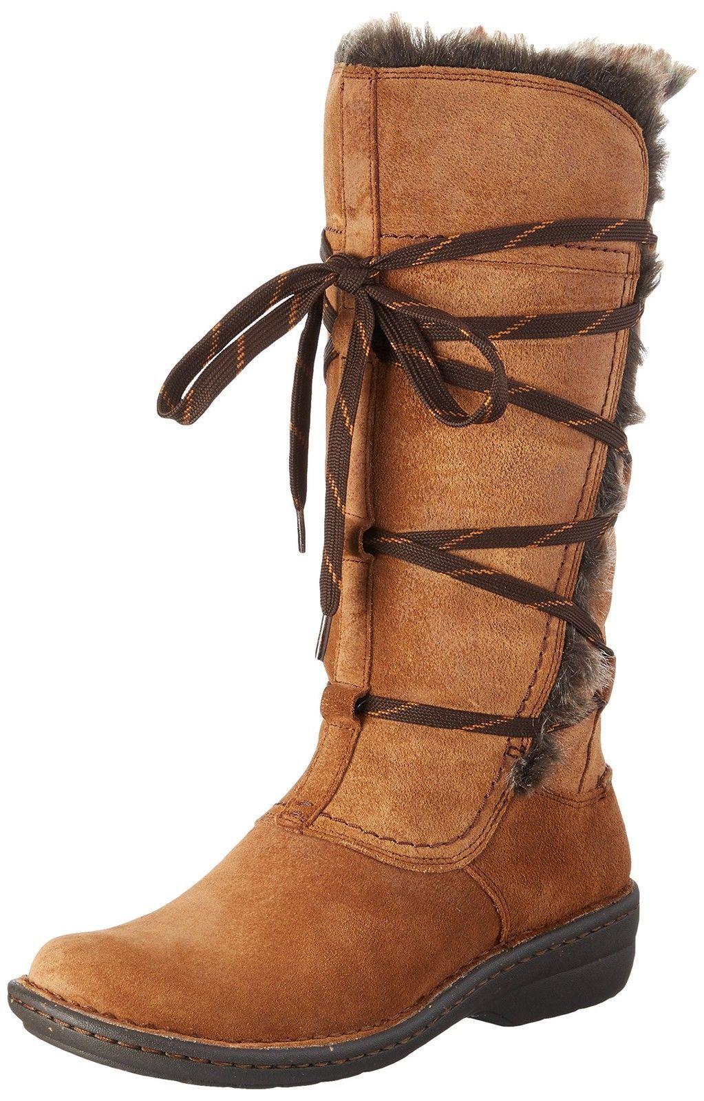 Clarks Mujer Ante Forro De Piel Planos Casual invierno botas altas Avington