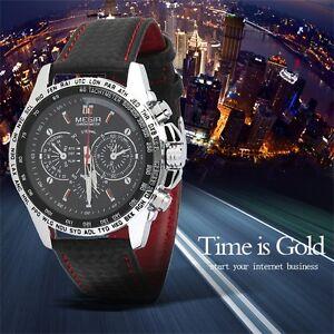 MEGIR-Fashion-Men-039-s-Casual-Watch-Quartz-Watch-Leather-Band-Wristwatch-TM