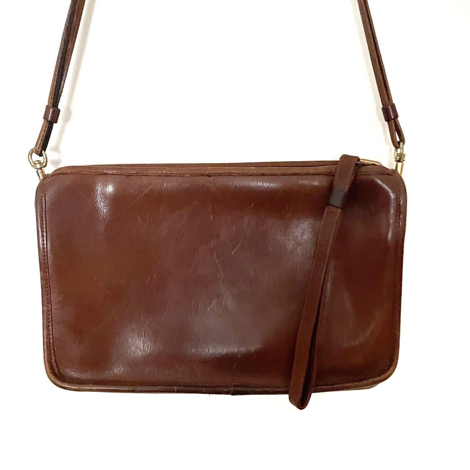 COACH Vintage Bonnie Cashin Brown Leather Shoulde… - image 2