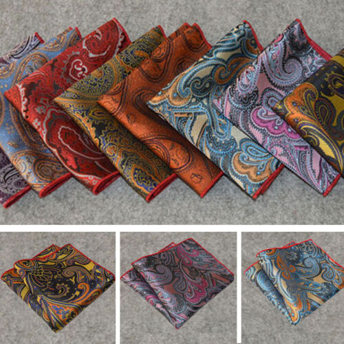 Lot 1//5//10//20//30//50 Men Paisley Silk Stain Pocket Square Handkerchief 200 Colors