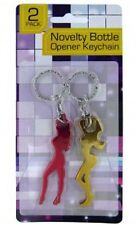 BOTTLE OPENER KEY CHAIN SEXY LADY SHAPE 2 PACK NEW