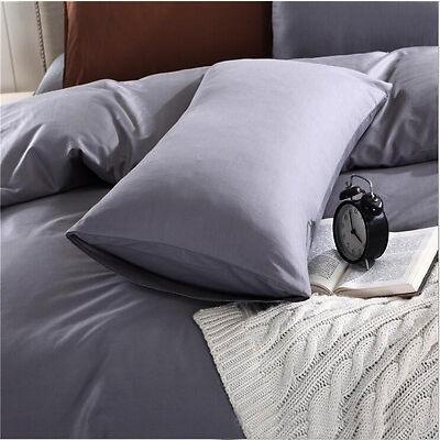 2x 280 TC Standard Pillowcases Luxury Polycotton Easycare (Multi-Colour)