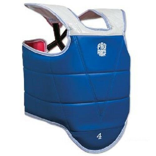 Proforce II Reversible TKD Chest Guard Tae Kwon Do Body Predector - blueee Red