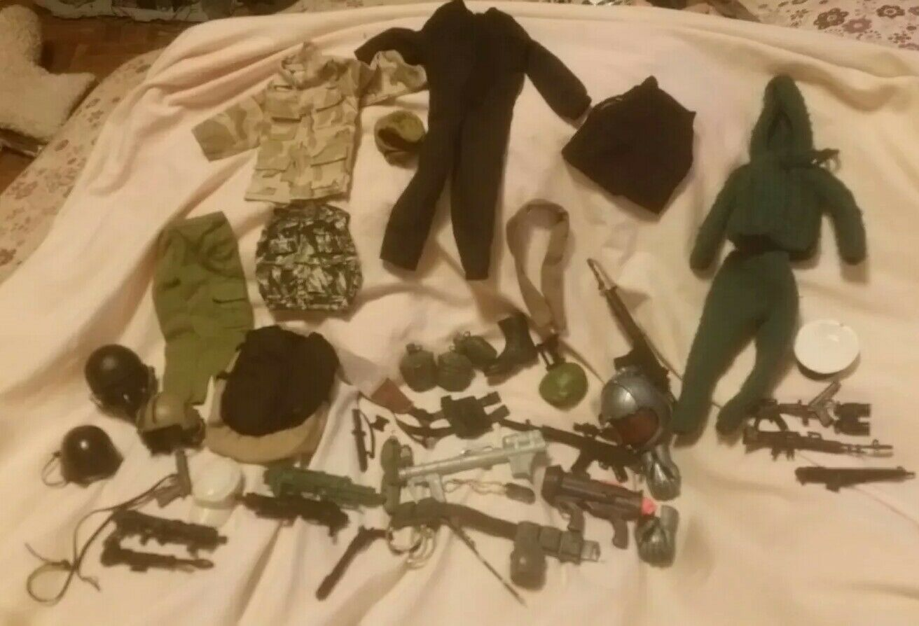 Lot Of Gi Joe Chlothes & Accessories guns Helmets
