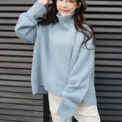 Tops Cashmere Jumpers Thick Long Sleeve Womens Turtleneck Pullovers Sweater Size