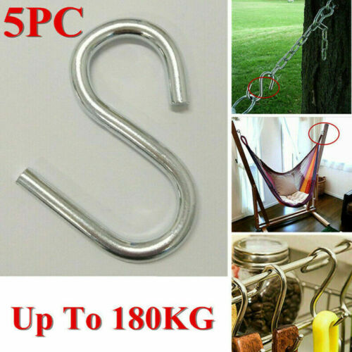 5Pcs Stainless Steel Tent Swing S Hooks Kitchen Meat Pan Utensil Clothes Hanger
