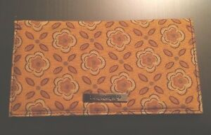 Longaberger-Checkbook-Cover-Golden-Fields-Fabric-Sisters-Wallet-Change