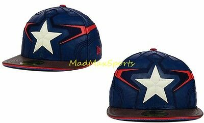da19f25cbb0 CAPTAIN AMERICA Armor MARVEL AVENGERS Face NEW ERA 5950 59FIFTY Hat CAP Sz 7  3