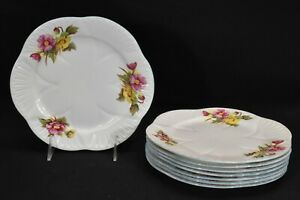 Shelley-Begonia-13427-Dainty-Shape-Set-of-8-Salad-Plates