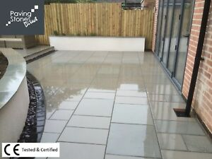 Details about Sawn & Honed Smooth Kandla Grey Sandstone 900x600 indian  stone patio path Garden