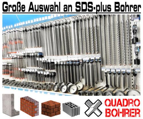 Juego taladro percusión SDS-Plus hormigón perforador set 3-tlg Quadro taladro martillo perforador 8mm 10mm 12mm x 600mm