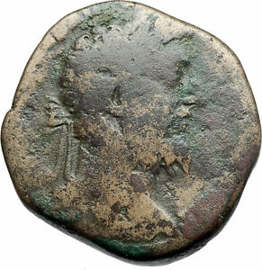 COMMODUS-183AD-Sestertius-Big-Rome-Authentic-Ancient-Roman-Coin-VICTORY-i79307