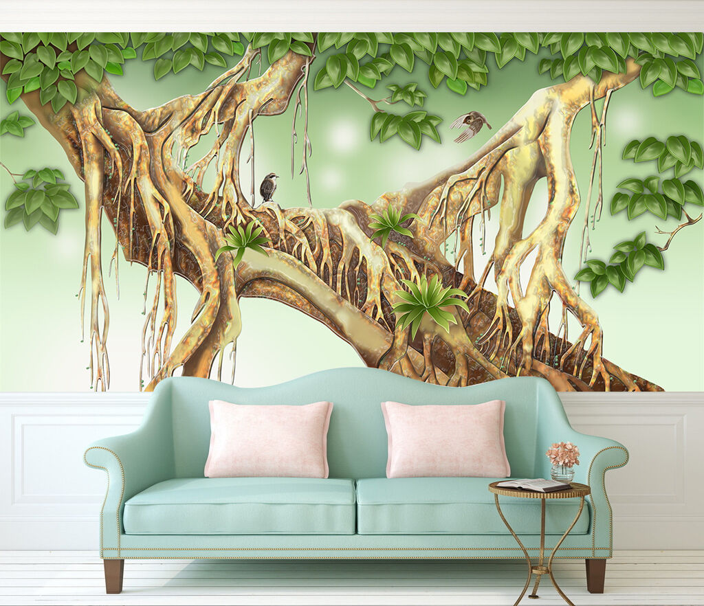 3D Amazing Tree 365 Wall Paper Wall Print Decal Wall Deco Indoor AJ Wall Paper