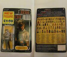 Star Wars Vintage LUKE SKYWALKER (IN BATTLE PONCHO) TRILOGO CARDBACK UNPUNCHED