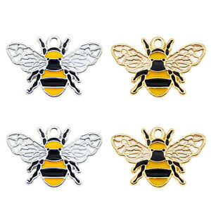 8pcs-lot-Gold-Silver-Enamel-Cute-Bees-Shaped-Alloy-Pendants-Charms-Crafts-52912