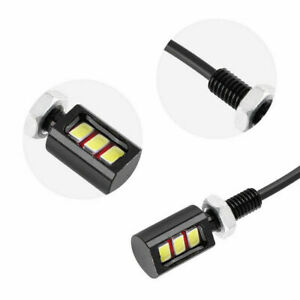 3W-LED-12V-SMD-Motorcycle-Car-Number-License-Plate-Screw-Bolt-Light-Lamp-Bulb