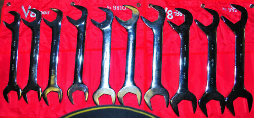 V8 tools 9810 Jumbo Angle Head Sae Inch Size Wrench 10 piece Set 1-5/16 to 2