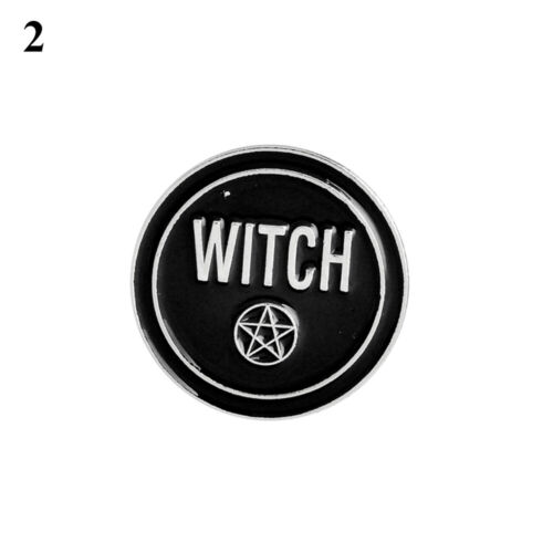 Dripping Oil Gothic Witches Punk Enamel Pins Clothes Lapel Pin Brooch Badge