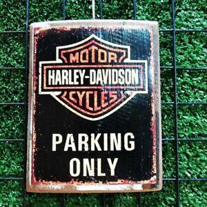 Vintage Harley Davidson Wall Hanging Picture Sign Decor Home Bar