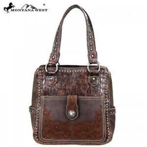 Stunning-034-Montana-West-034-Brown-Hand-Bag-Concealed-Carry-Leather-PU-NWT-MSRP-144