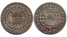 10 Reis 1787 Brésil. Maria I°. Contremarque pour 20 Reis. Colonie Portugaise. Cu