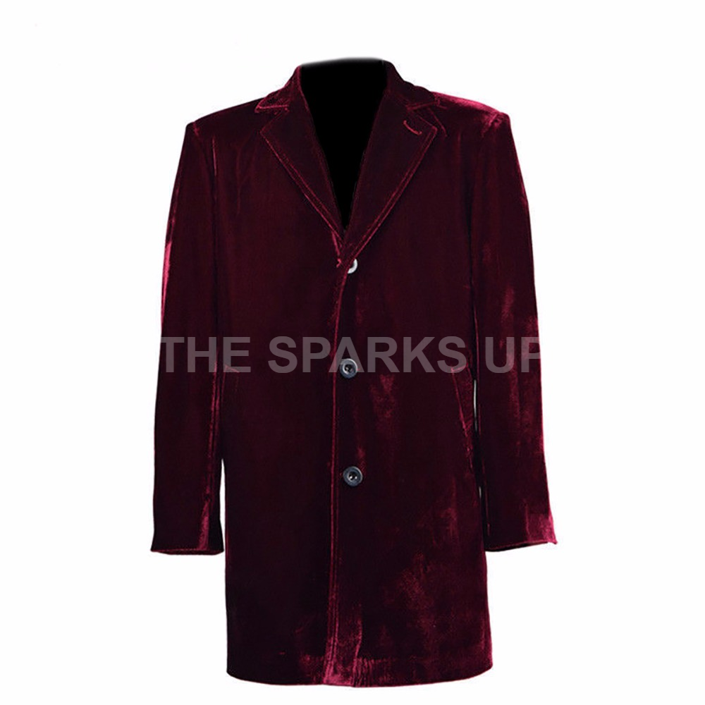 12th Doctor Who Coat of Peter Capaldi Maroon Farbe Cosplay Costume  - XMAS SALE