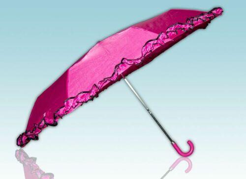 Regenschirm mit Rüschen in rosa blau oder rot
