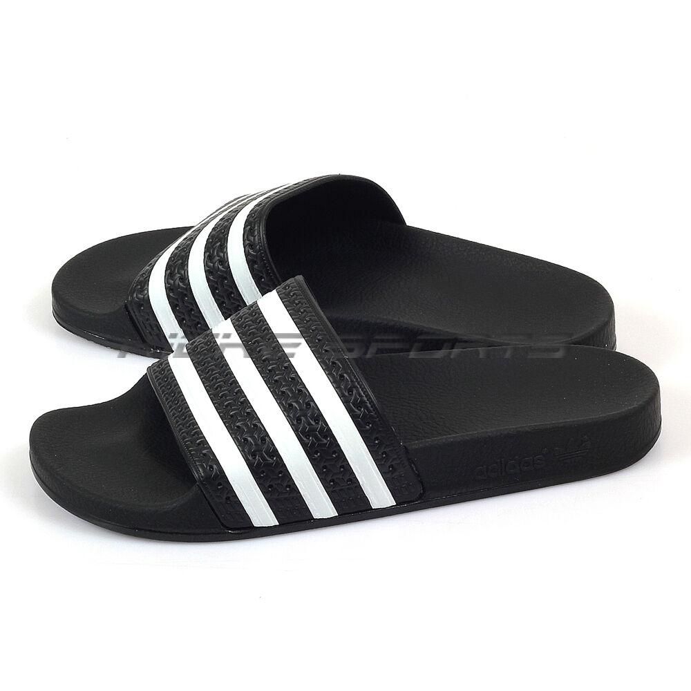 Adidas Originals Adilette Slide Sandalen Fashion Slippers Schwarz / Weiß 280647