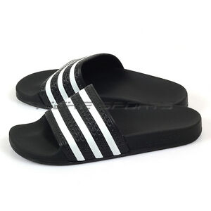 8a11ee4827ff51 Image is loading Adidas-Originals-Adilette-Slide-Sandals-Fashion-Slippers- Black-