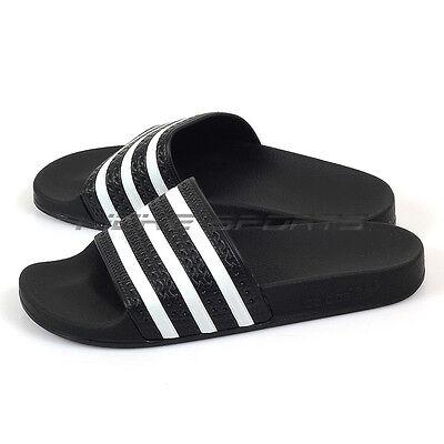 2c1919887 Adidas Originals Adilette Slide Sandals Fashion Slippers Black White 280647