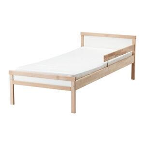 Image Is Loading Bed Frame With Slatted Base Sniglar Beech