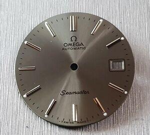 OMEGA-SEAMASTER-Dial-cal-1010-1012-1020-1022-Man-039-s-Watch-Gris-Cadran-NEUF
